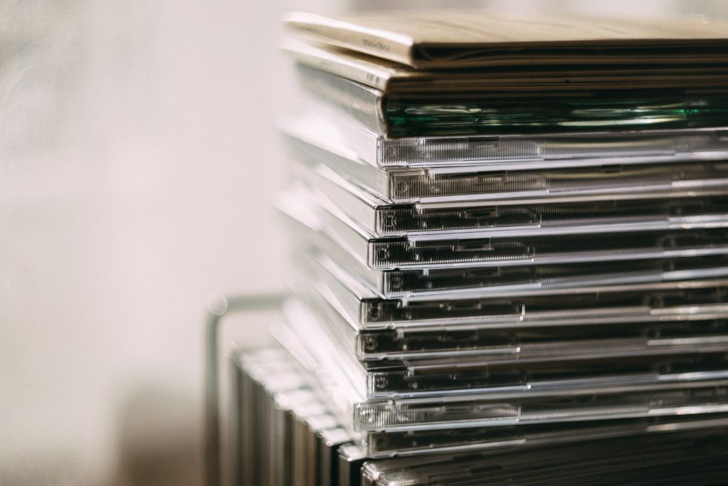 Stack of CDs or SACDs