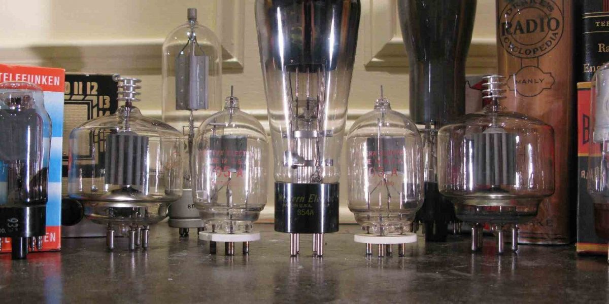 An assortment of vacuum tubes for the collector